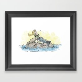 Mermaid Maybe Framed Art Print