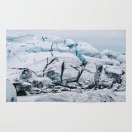 Glacial World of Iceland - Landscape Photography Rug