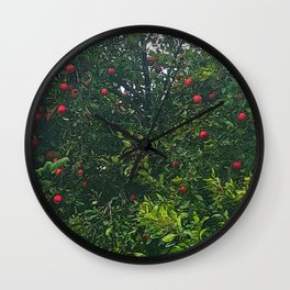 Apple Tree Close Up Wall Clock