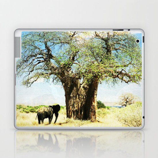 Finding an old friend - elephant in the wild Laptop & iPad Skin