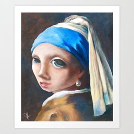 Z imagination Girl with a Pearl Earring Art Print