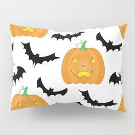 Halloween Pumpkins and Bats Pillow Sham