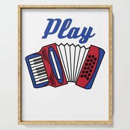 Accordion Accordionist T Shirt Gift I Play Accordion Serving Tray