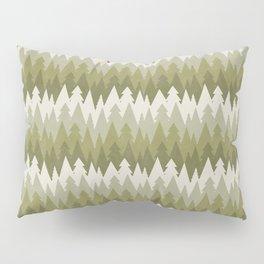 Layered Green Forest Pillow Sham