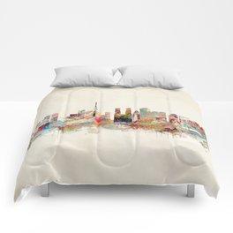 tokyo japan skyline Comforters
