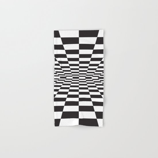 Black and white back and forth - Optical game 15 Hand & Bath Towel