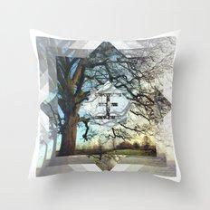 Geo Tree Throw Pillow
