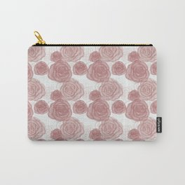 Pastel Roses Carry-All Pouch