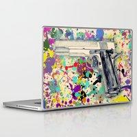 gun Laptop & iPad Skins featuring Gun by Maressa Andrioli