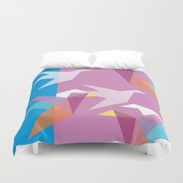 Pastel Paper Cranes Duvet Cover