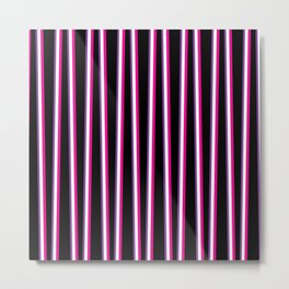 Between the Trees Black, Pink & Purple #259 Metal Print