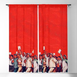 RED REVOLUTION Blackout Curtain