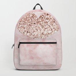 Rose gold - heart Backpack