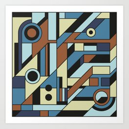 De Stijl Abstract Geometric Artwork 3 Art Print