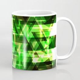 Spring gentle green horizontal strict stripes of sparkling grass triangles. Coffee Mug