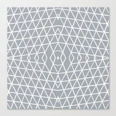 Geo Outline Grey Canvas Print
