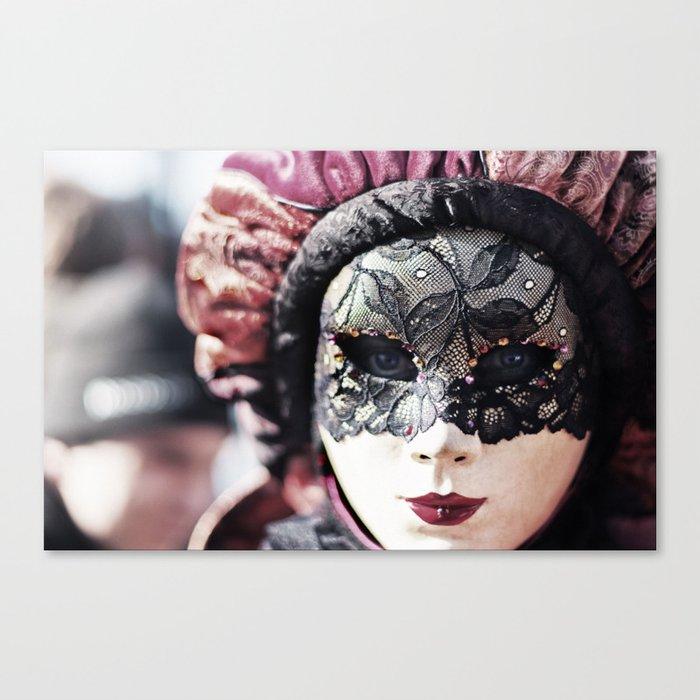 couleur n brillante plus récent nouveau pas cher Italy Venice Mask 4 woman Canvas Print by jsebouvi