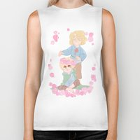 hetalia Biker Tanks featuring Flower Crown by kitkatkatee