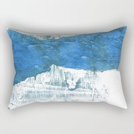 Lapis lazuli abstract watercolor Rectangular Pillow