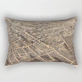 Map Of Danbury 1875 Rectangular Pillow