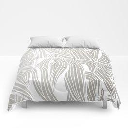 Silver & White Comforters