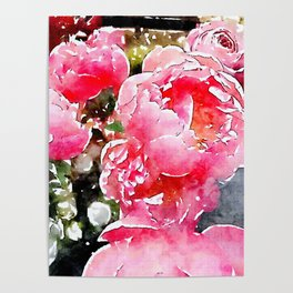 Painted Roses Poster