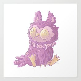 My Friend Owl Art Print