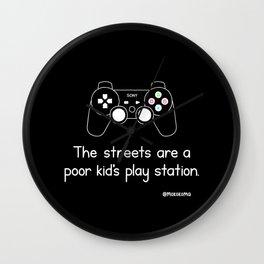 PlayStation (Black) Wall Clock