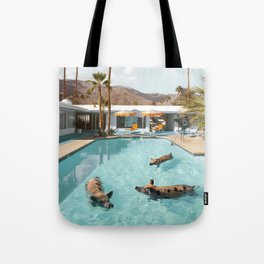 Pig Poolside Party Tote Bag