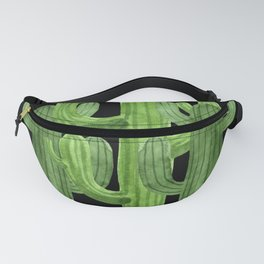 Desert Vacay Three Cacti on Black Fanny Pack