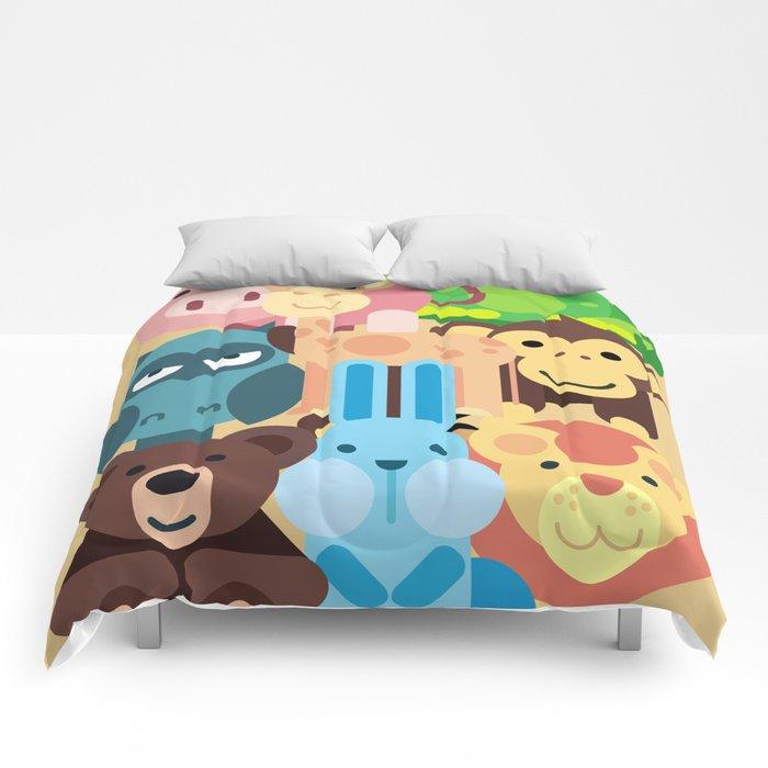 Zoo Animals Farm Kids Room Decor Nursery Baby Comforters By Trartstudio