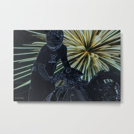 wheelie on the fourth Metal Print