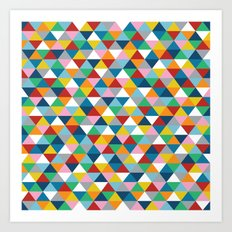 Triangles of Colour Art Print