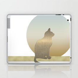 Chilled Gold Cat at Dawn Laptop & iPad Skin