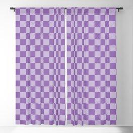 Amethyst Checkerboard Blackout Curtain