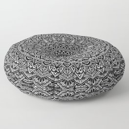 Zen Black and white Mandala Floor Pillow