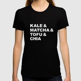 kale matcha tofu vegan healthy food typography gift T-shirt