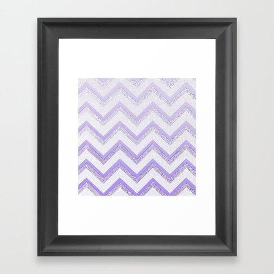 NUDE PURPLE Framed Art Print