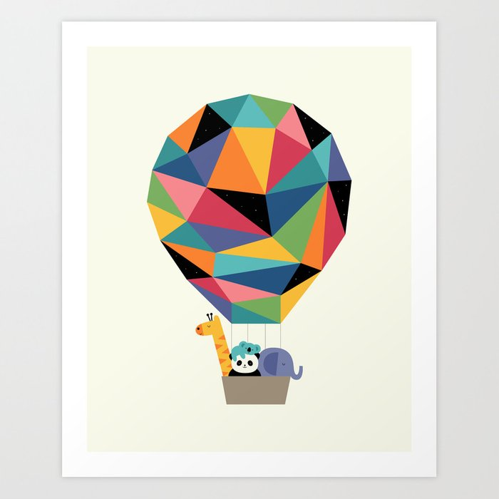 Fly High Together Art Print