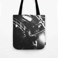 tim shumate Tote Bags featuring Tim Skipper by Ethan Luck