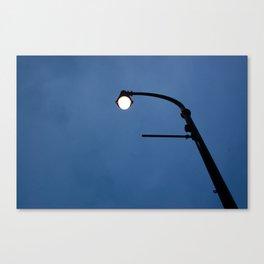 Streetlamp at twilight Canvas Print