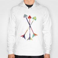 arrows Hoodies featuring Arrows by Bridget Davidson