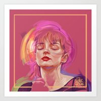 chvrches Art Prints featuring QUIET by Cloakwork