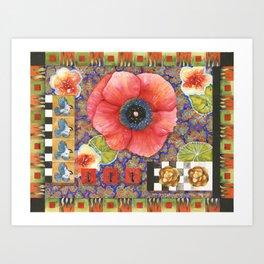 Prairie Fire Poppy Art Print