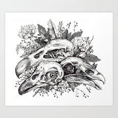 Skull Pile Art Print