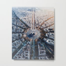 Architecture of Paris Metal Print