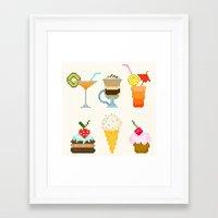 dessert Framed Art Prints featuring Dessert by Valendji