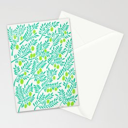 Olive Branches – Turquoise & Lime Palette Stationery Cards