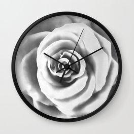 Big White Rose Wall Clock
