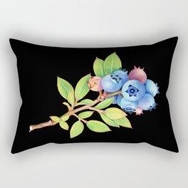 Wild Maine Blueberries Rectangular Pillow